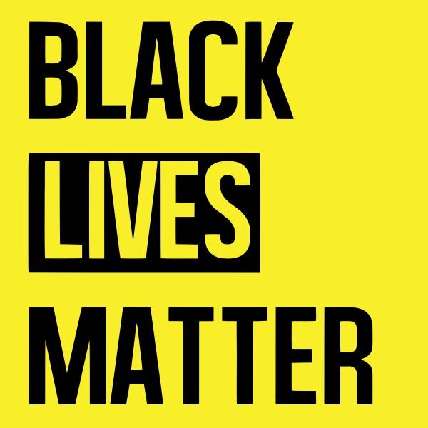 no racism black lives matter illustration