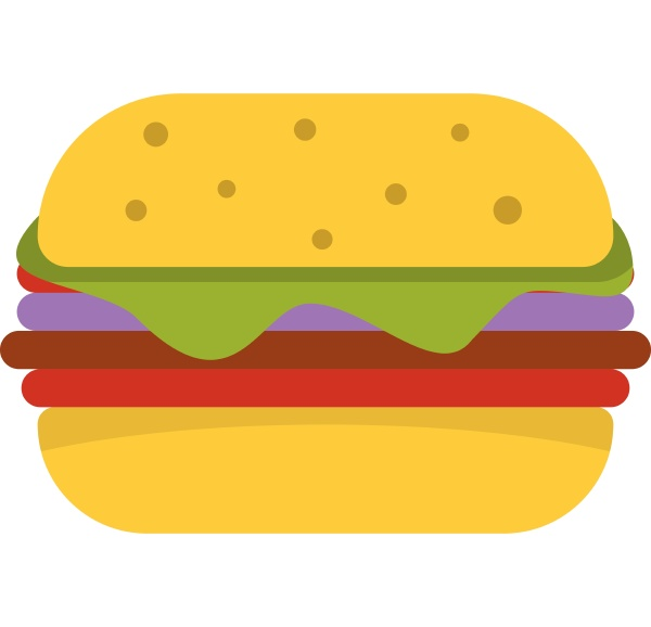 hamburger with cheese and meat patty