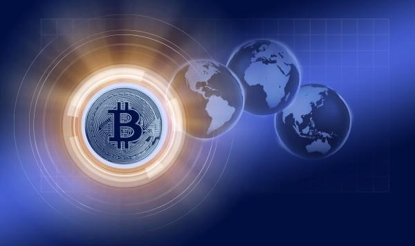 bitcoin and globes cgi