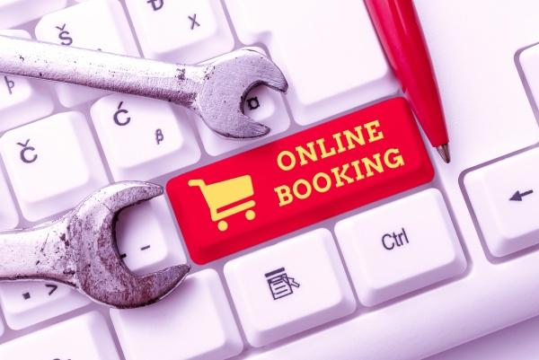 handwriting text online booking business showcase