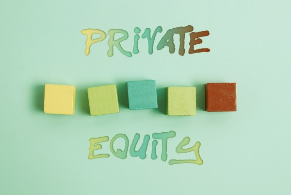 text caption presenting private equity word