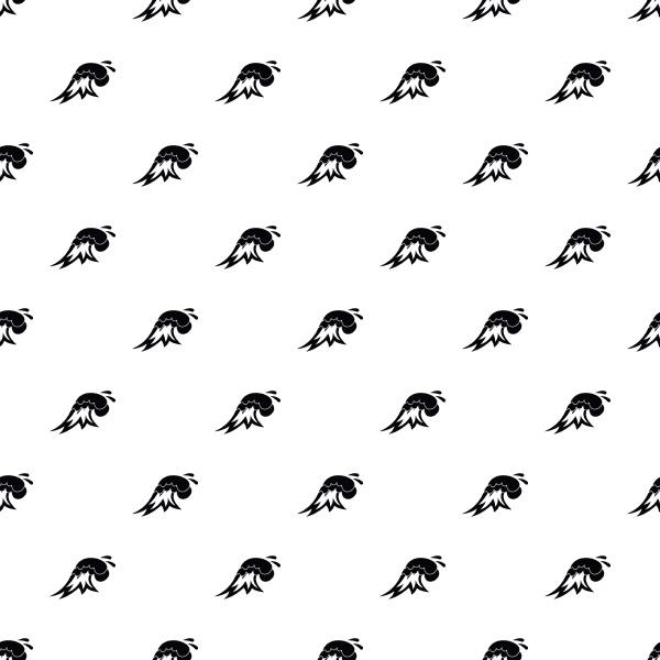 surf wave pattern vector
