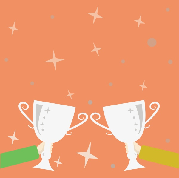 abstract victory reward ceremony celebrating new