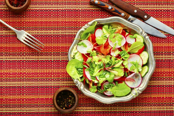 spring vegan salad