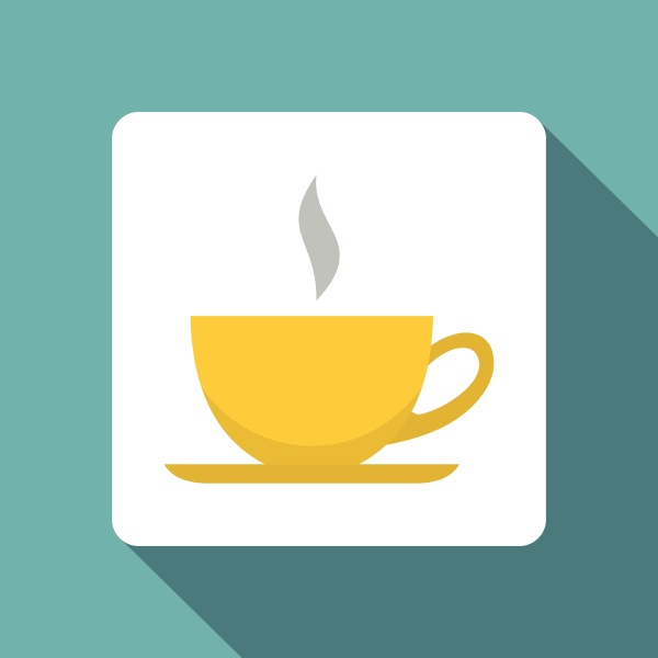 yellow cup of tea or coffee