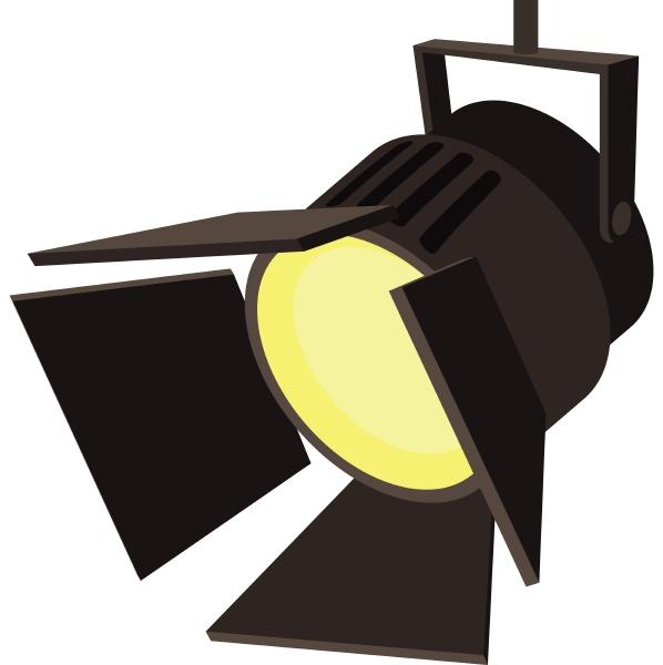 movie or theatre spotlight icon