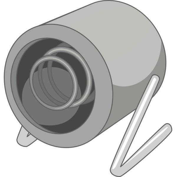 heat gun icon monochrome
