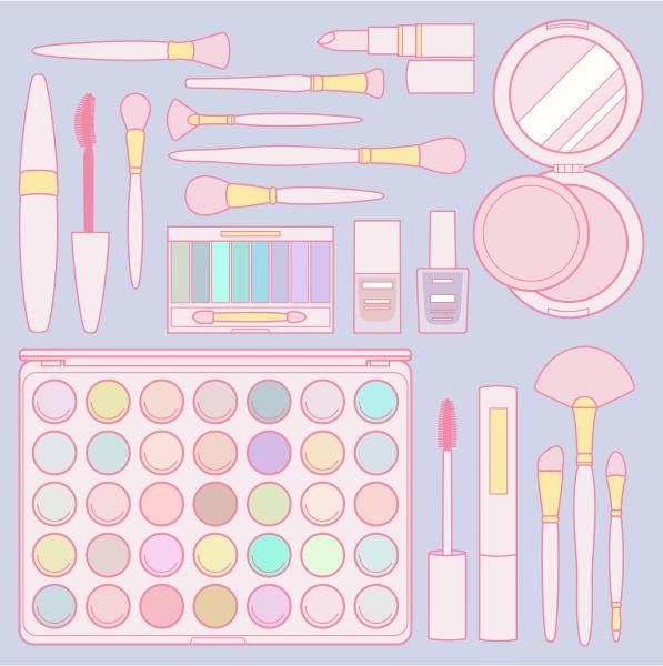 set of makeup items