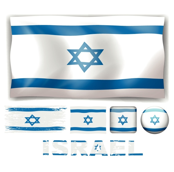 israel flag in different designs