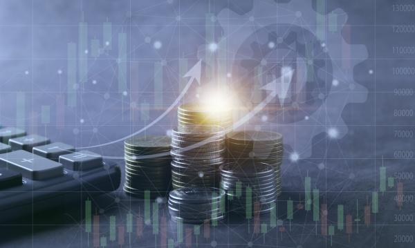 saving money concept with money coin