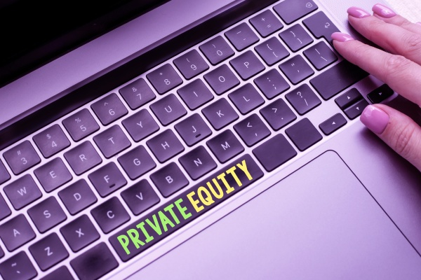 sign displaying private equity internet concept
