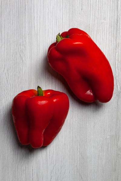 two red sweet peppers