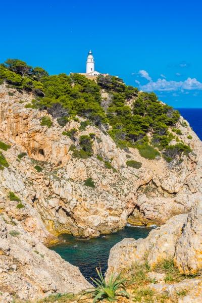 lighthouse close to cala rajada majorca