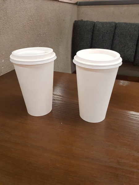 plastic garbage cup to take away