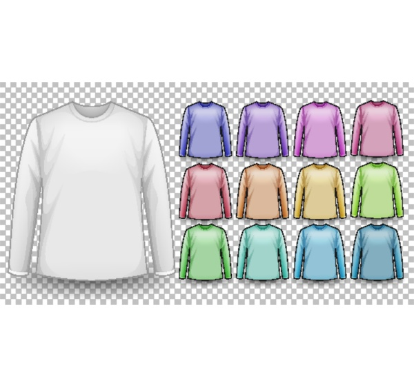 set of different color long sleeve
