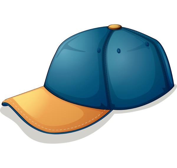 a blue cap