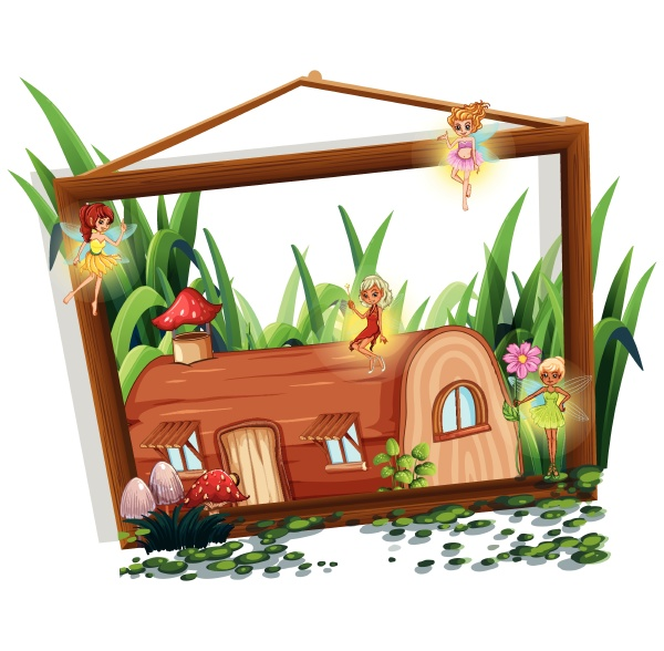 fairy tale on wooden frame