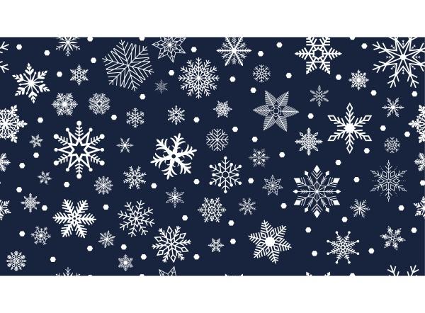 seamless white frosty snowflakes on dark