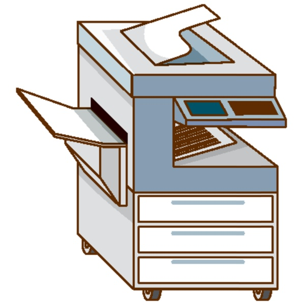 copying machine on white background
