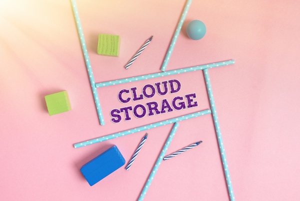 hand writing sign cloud storage concept