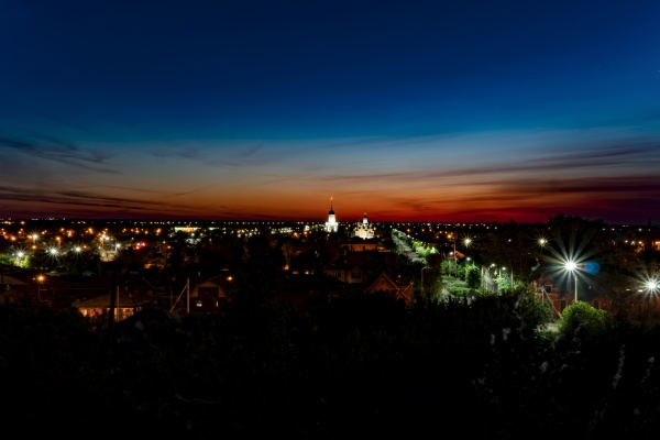 evening panorama of the city on