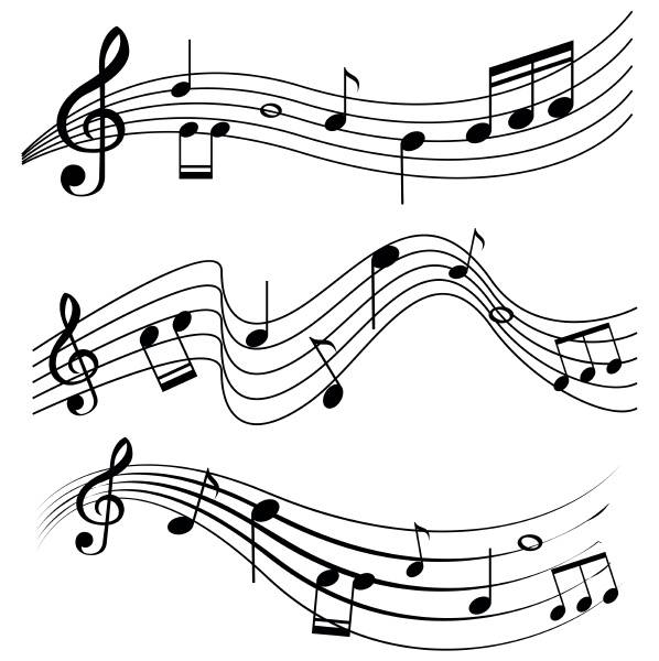 seamless design with music notes