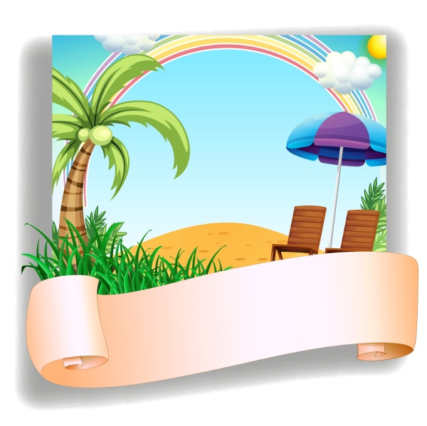 a beach chair and an umbrella