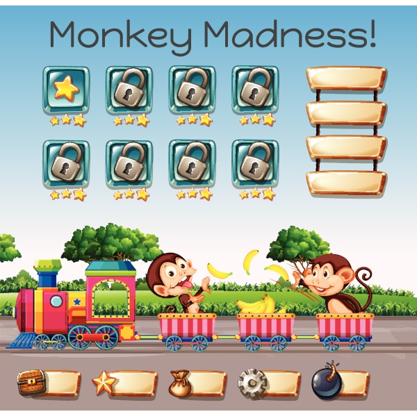 a monkey madness game template