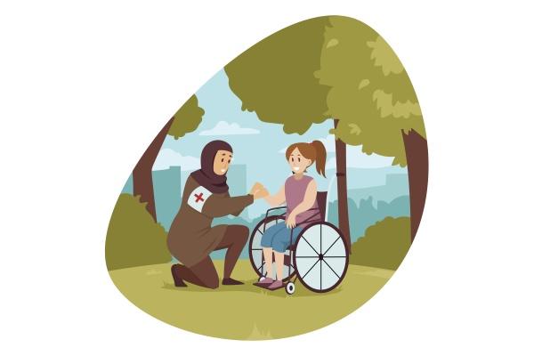 volunteering medicine disability health care concept