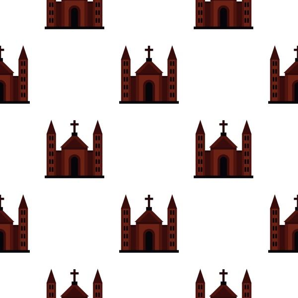 catholic church pattern flat