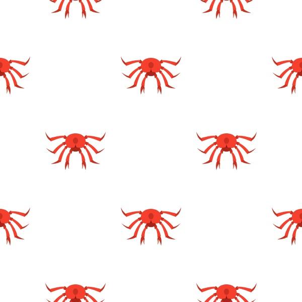 red crab pattern seamless