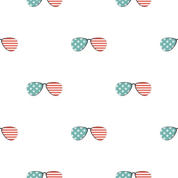 american glasses pattern seamless