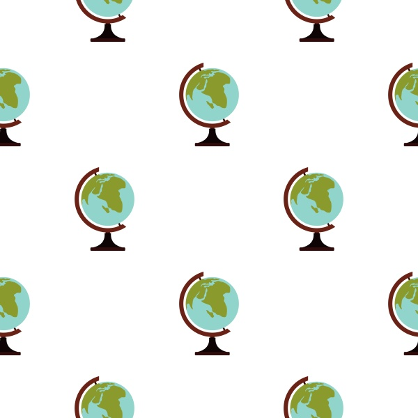 terrestrial globe pattern seamless