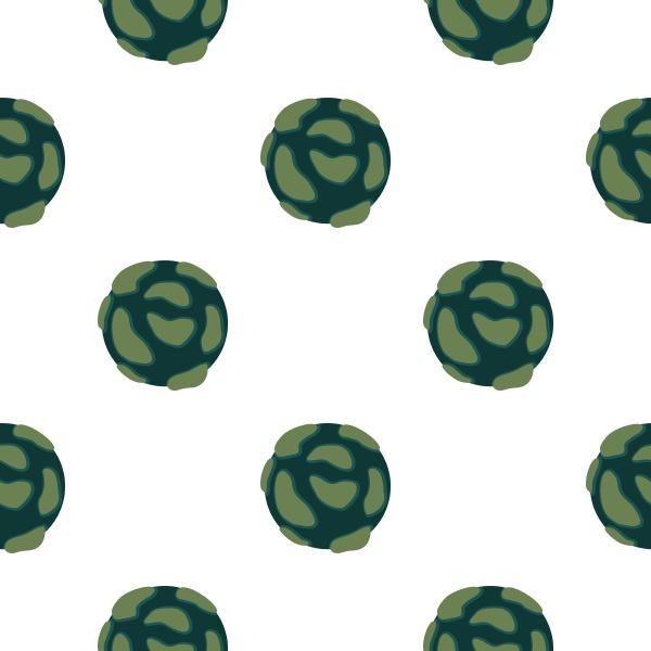 beautiful planet pattern seamless