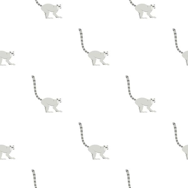 lemur pattern seamless