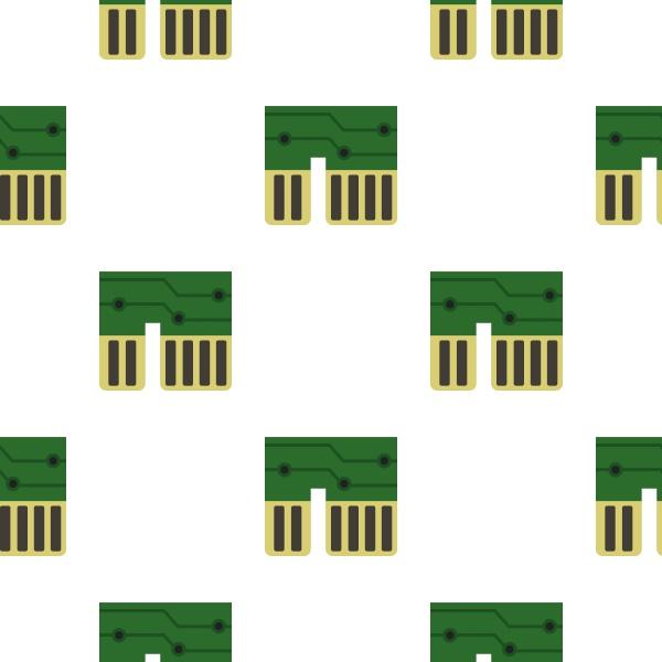 computer chipset pattern flat