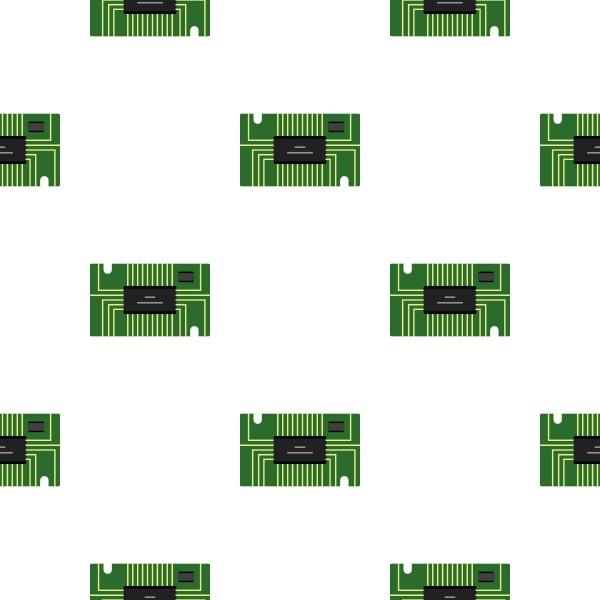 green microchip pattern flat