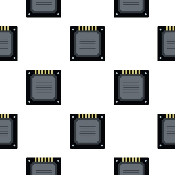 modern multicore cpu pattern flat