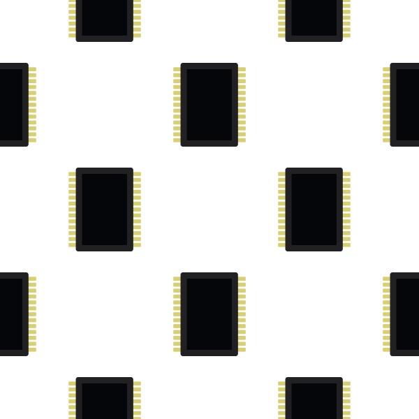 computer electronic circuit board pattern flat