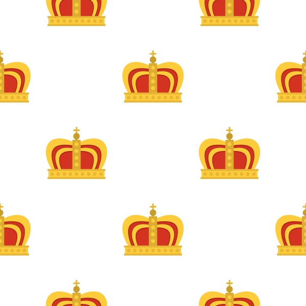 monarchy crown pattern flat