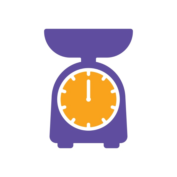 scales vector glyph icon kitchen appliance