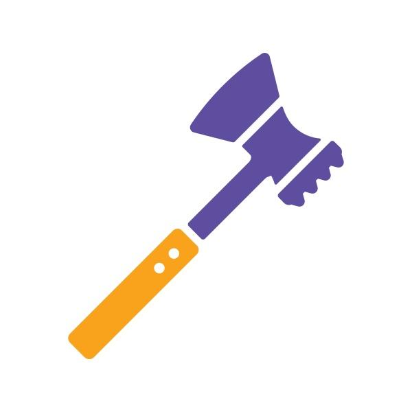 meat hammer vector glyph icon kitchen