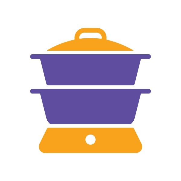 double boiler vector glyph icon kitchen