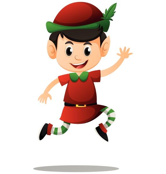 elf in red costume