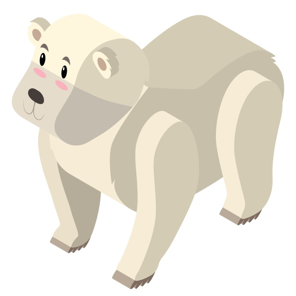 3d design for polar bear