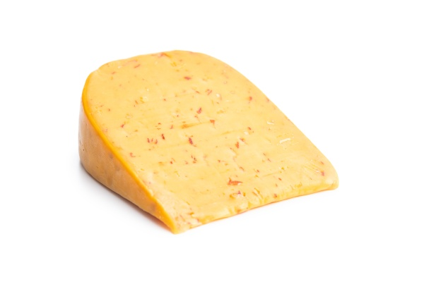 block of hard cheese with chili