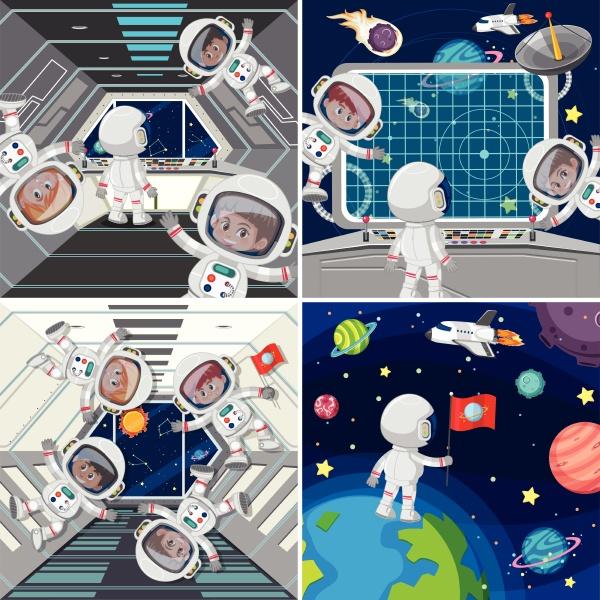 astronaut inside of spaceship