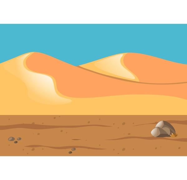 nature scene with sand in desert