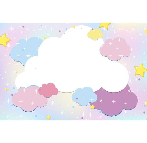 magic fairy tale pastel sky background