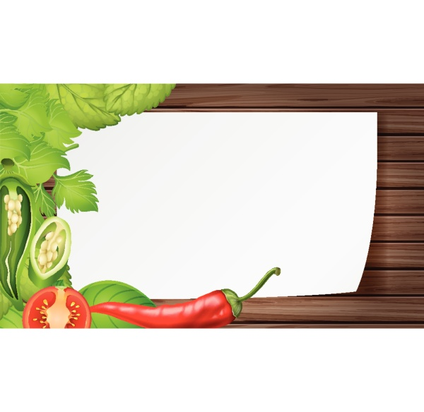 border template with mixed vegetables